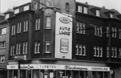 Historisches Foto (1978) von Tapeten-Teppichboden Bleckmann in Duisburg